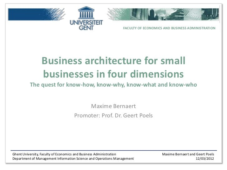 FACULTY OF ECONOMICS AND BUSINESS ADMINISTRATION                Business architecture for small                businesses ...
