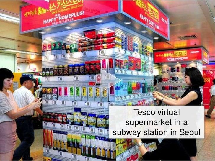 Tesco virtual   supermarket in asubway station in Seoul