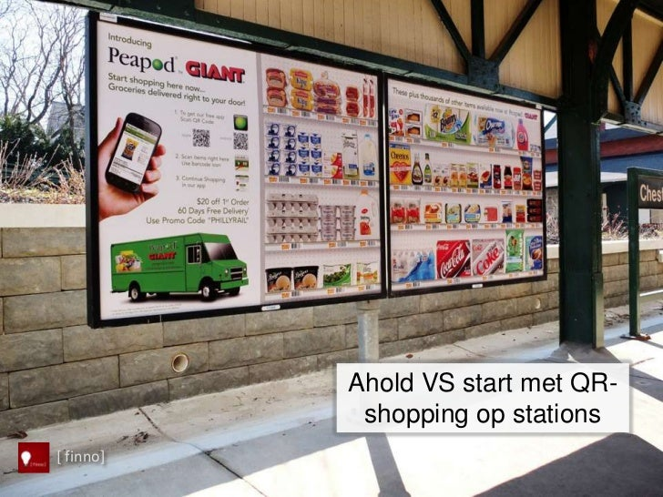 Ahold VS start met QR-            shopping op stations[ finno]