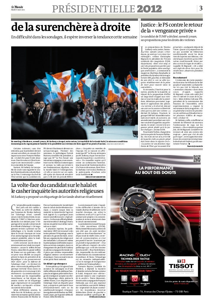 le journal le monde du 6-3-2012 Slide 3