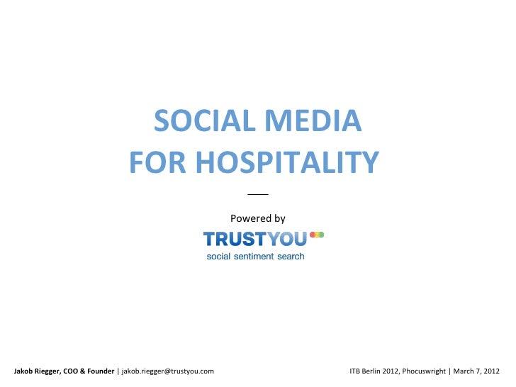 SOCIAL MEDIA                                FOR HOSPITALITY                                                            Pow...