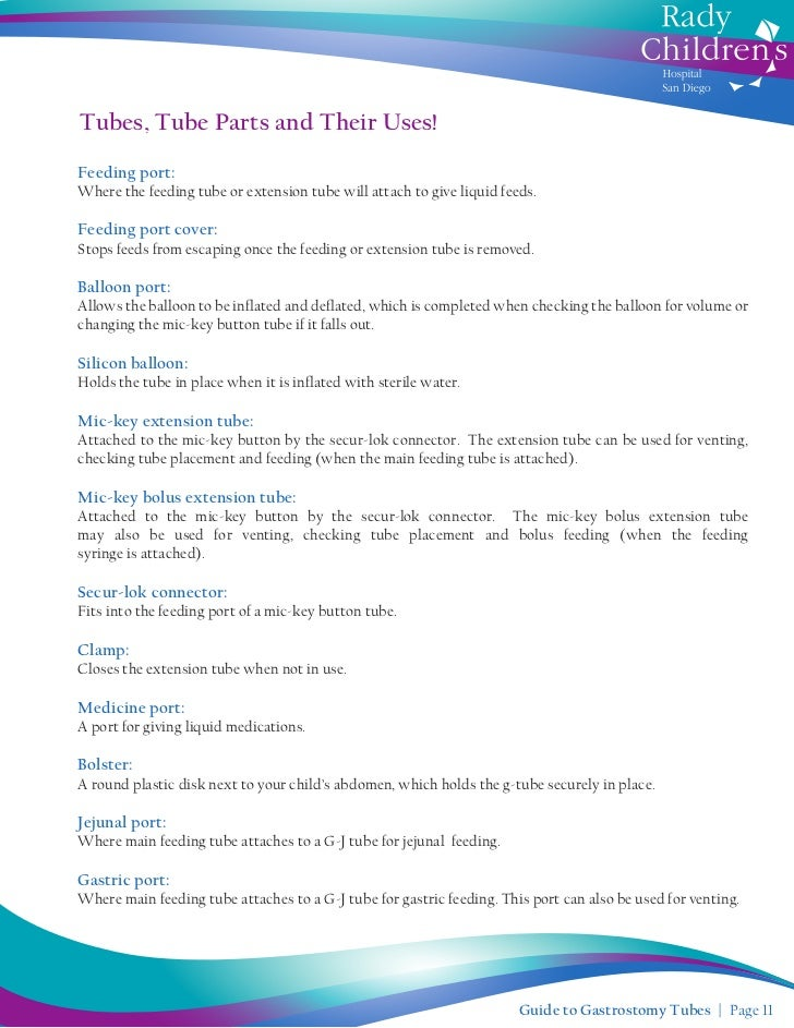 Guide To Gastrostomy Tubes