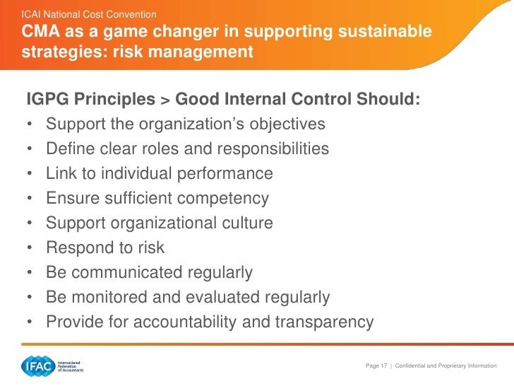 the guidelines for a good internal control