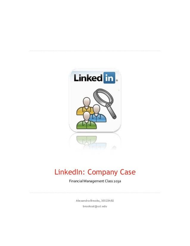LinkedIn: Company Case               Financial ...