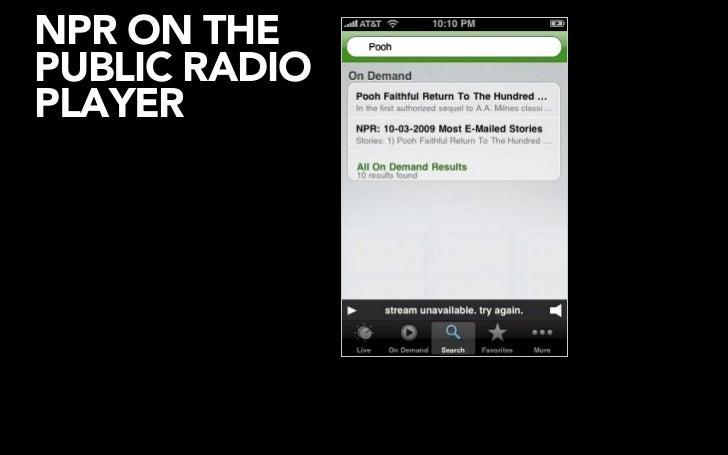 NPR'S API