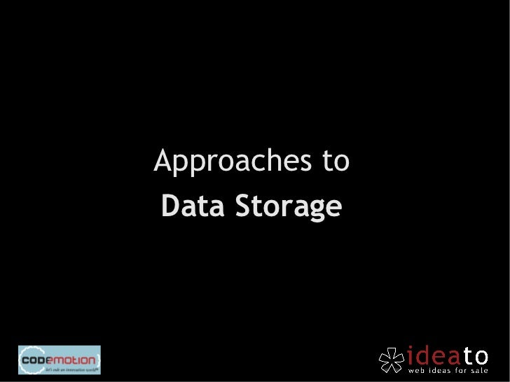 "Web Storage is based on astructure of key-value pairs like     any JavaScript object.localStorage.setItem(""bar"",foo);"