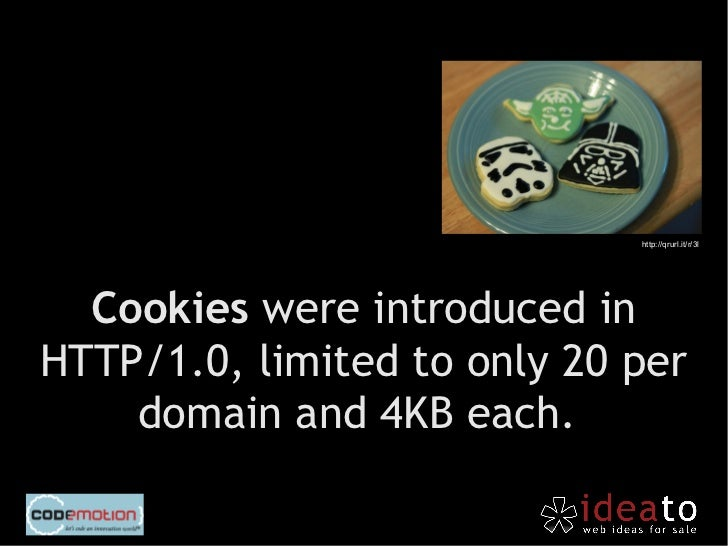 Cookies are sent to                        and from client at                         any connection.http://qrurl.it/r/3m