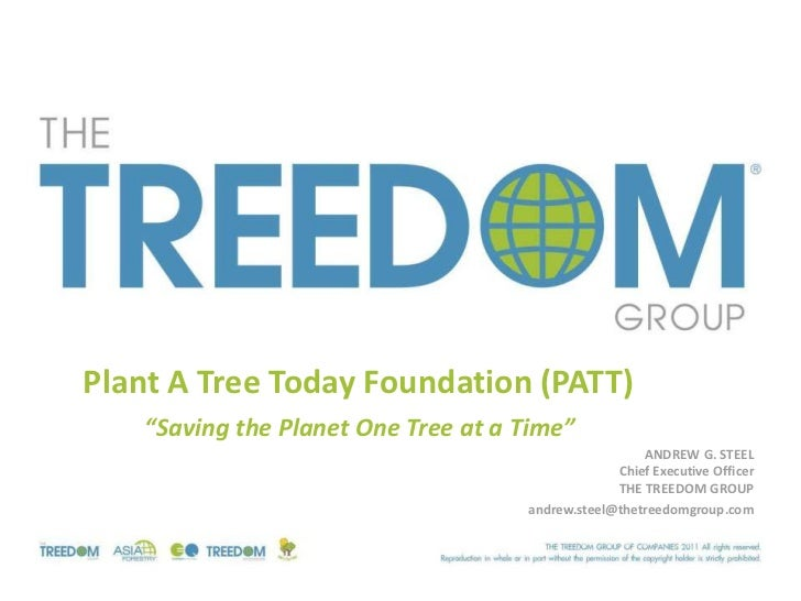 "Plant A Tree Today Foundation (PATT)    ""Saving the Planet One Tree at a Time""                                            ..."