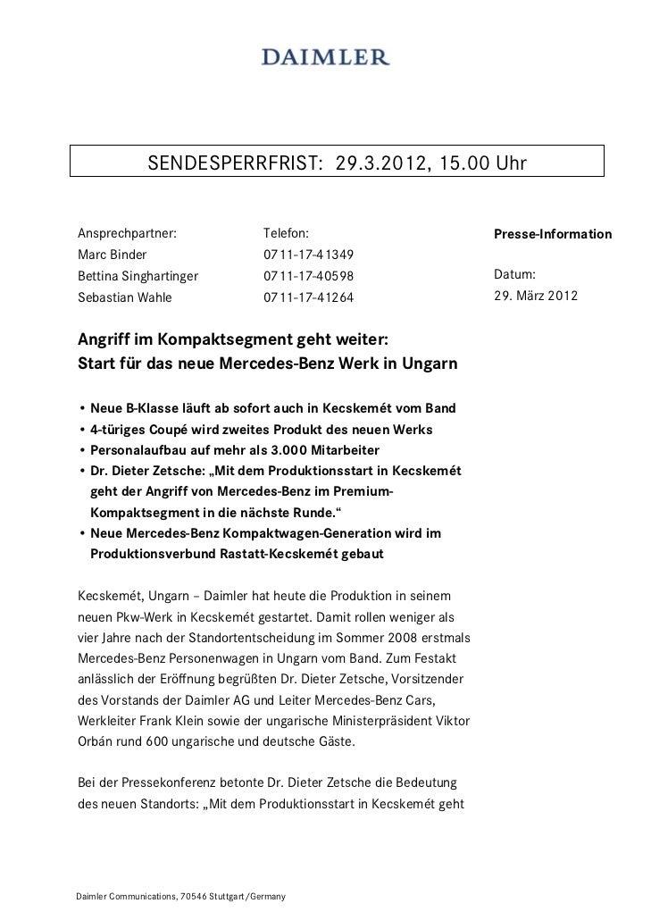 SENDESPERRFRIST: 29.3.2012, 15.00 UhrAnsprechpartner:                          Telefon:                     Presse-Informa...