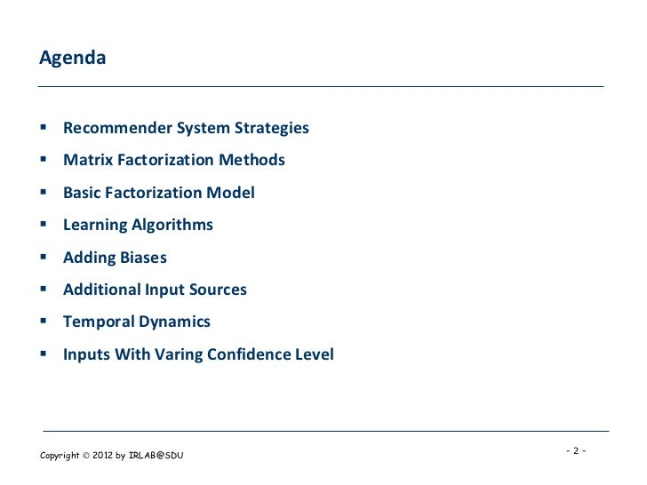 Matrix Factorization Techniques For Recommender Systems Slide 2