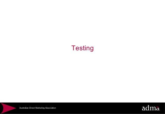 TestingAustralian Direct Marketing Association