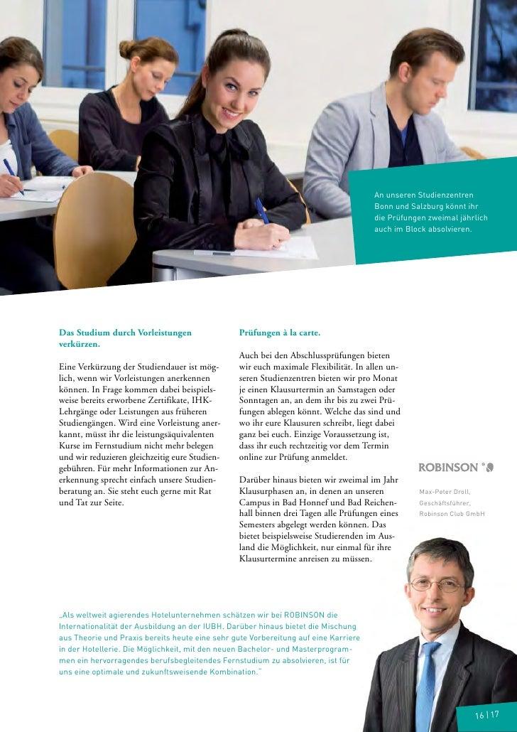 An unseren Studienzentren                                                                                     Bonn und Sal...