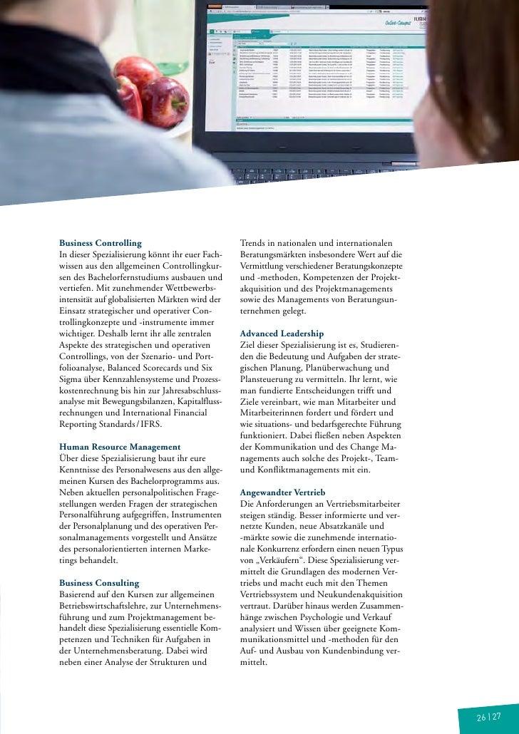 Business Controlling                             Trends in nationalen und internationalenIn dieser Spezialisierung könnt i...