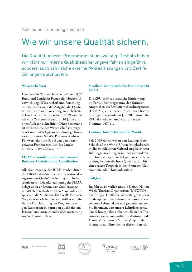 Studienführer Bachelor of Arts in BWL
