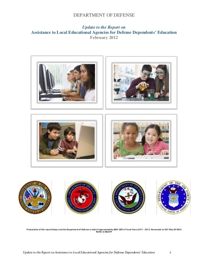 DEPARTMENT OF DEFENSE                                Update to the Report on      Assistance to Local Educational Agencies...