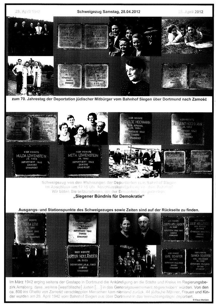 Aufruf zum Schweigemarsch, 28.4.2012