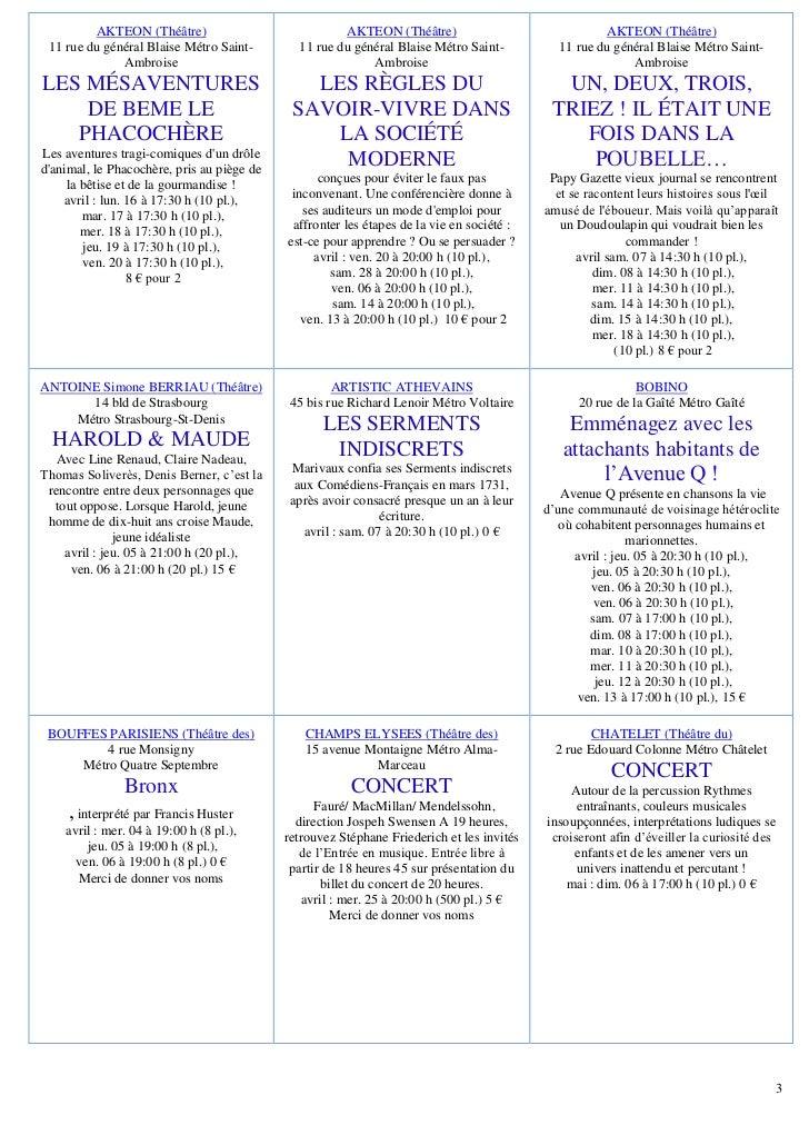 Programme du SPF du 05 avril 2012 Slide 3