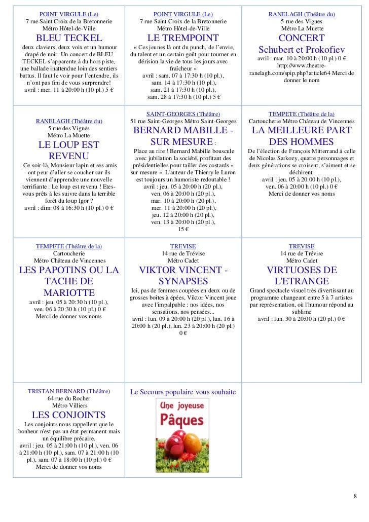 POINT VIRGULE (Le)                              POINT VIRGULE (Le)                             RANELAGH (Théâtre du)   7 r...