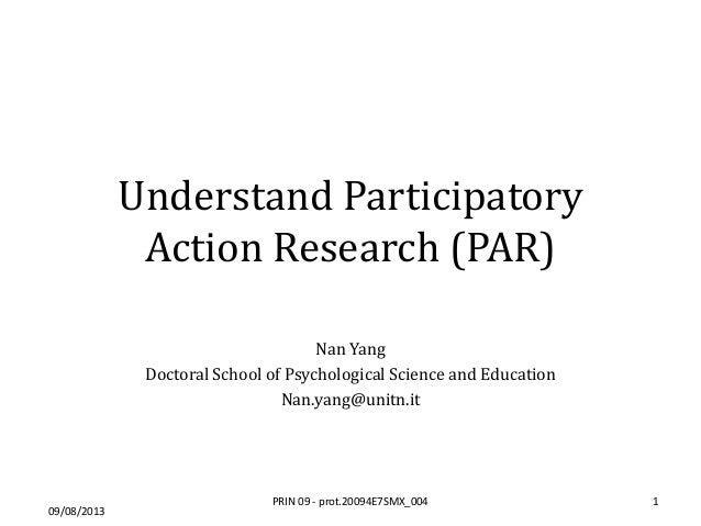 Participatory action research definition