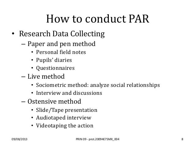 Participatory action research examples