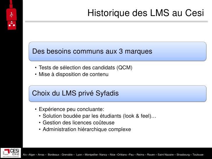 LMS, open-source ou propriétaire? Par Exia.Cesi Slide 3