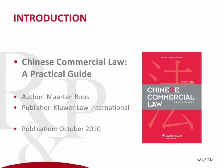 chinese commercial law Chinese commercial law notes this student studied: deakin university - mll344 - chinese commercial law chinese commercial law notes for mll344 use these notes to get a hd awesome notes :) 5 ex credits 5 exchange credits view details thinkswap pty ltd thinkswap is not endorsed by any university or college.
