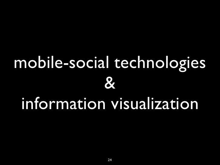 mobile-social technologies            & information visualization            24