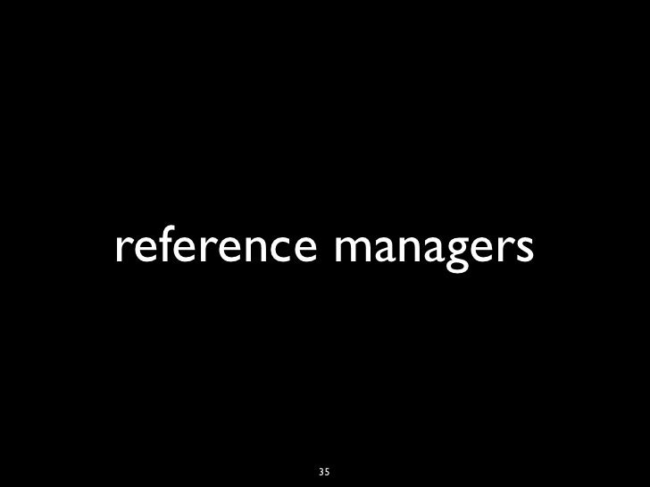 reference managers        35