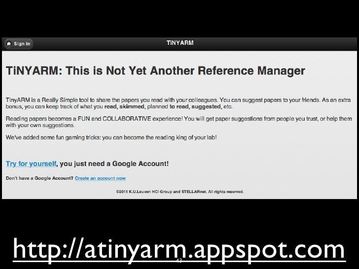 http://atinyarm.appspot.com             43