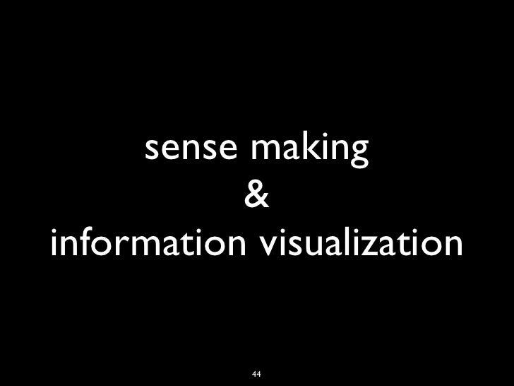 sense making           &information visualization            44