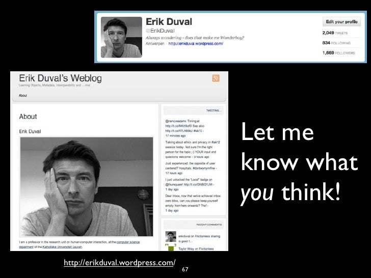 Let me                                       know what                                       you think!http://erikduval.wo...