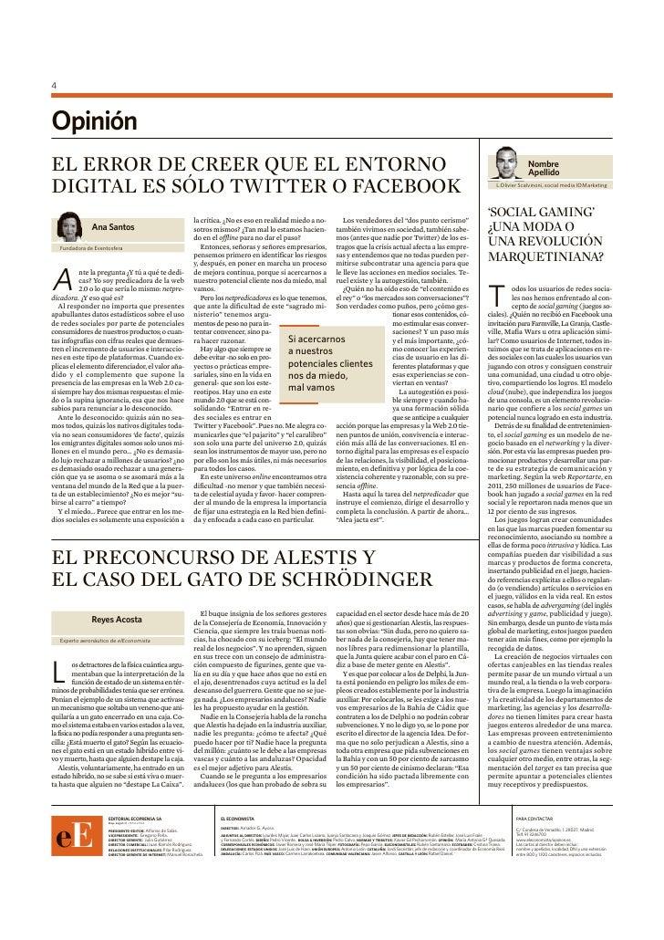 4OpiniónEL ERROR DE CREER QUE EL ENTORNO                                                                                  ...