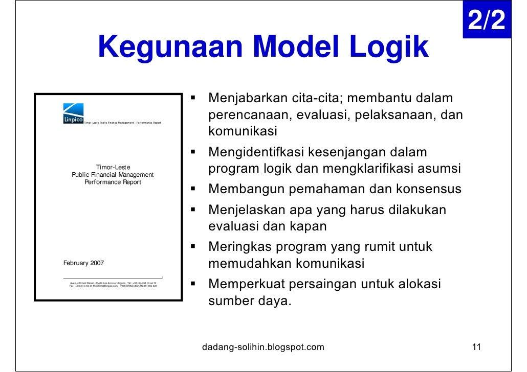 Logic Model Theory                                                                     Hasil pembangunan yang             ...