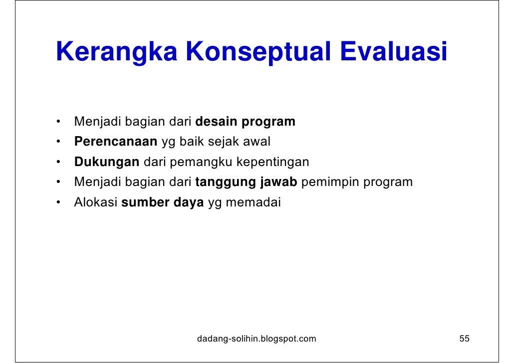 Kriteria Evaluasi Relevansi      Sejauh mana kegiatan sejalan dengan prioritas                 dan kebijakan Efektifitas...