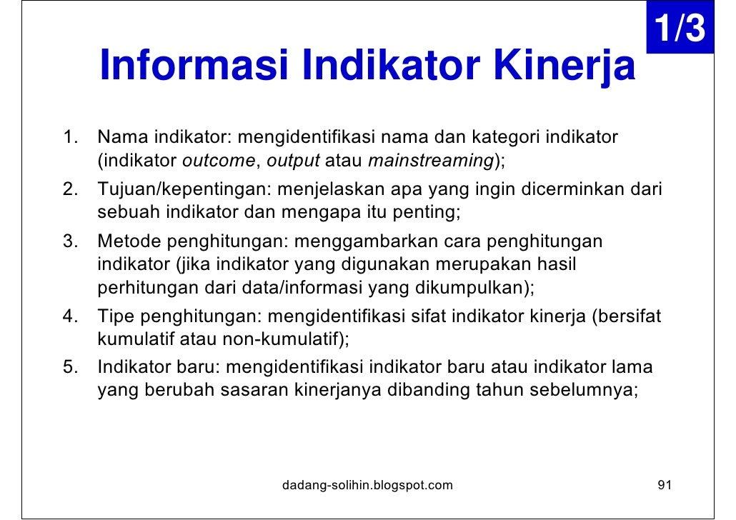 2/3    Informasi Indikator Kinerja6. Kinerja yang diharapkan: mengidentifikasikan tingkat dan arah    kinerja yang diharap...