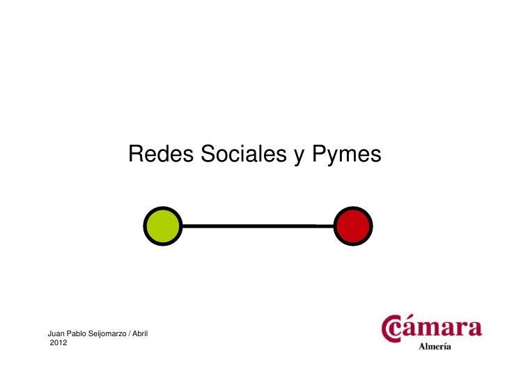 Redes Sociales y PymesJuan Pablo Seijomarzo / Abril 2012