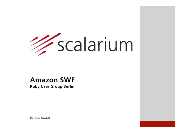 Amazon SWFRuby User Group BerlinPeritor GmbH