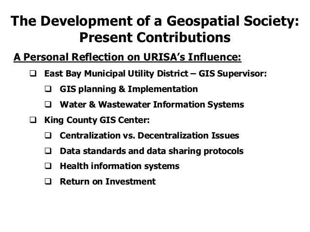 URISA and the Development of a Geospatial Society: Past