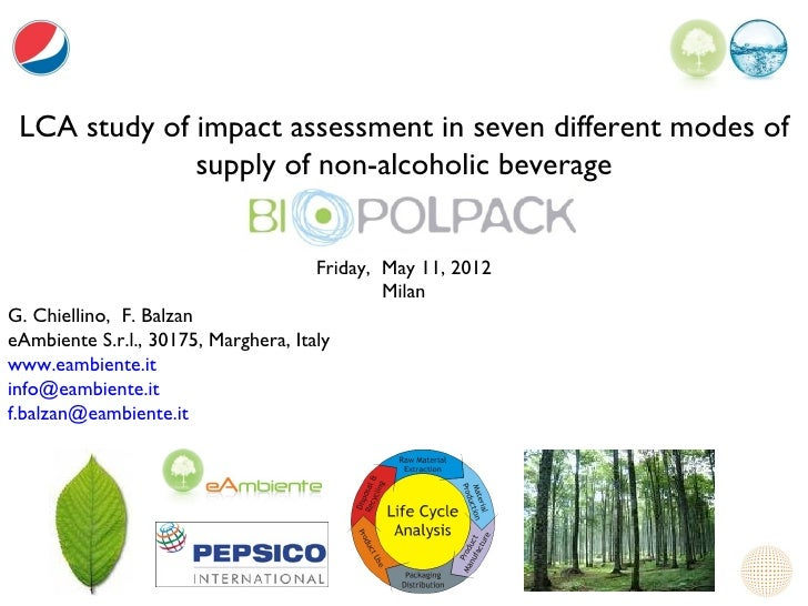 LCA study of impact assessment in seven different modes of              supply of non-alcoholic beverage                  ...