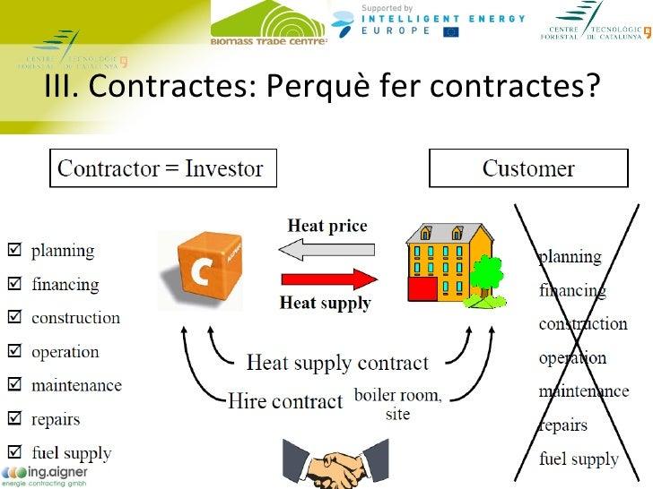 III. Contractes: Perquè fer contractes?•   En general:     – Es redueix la incertesa     – Es crea confiança     – Generac...