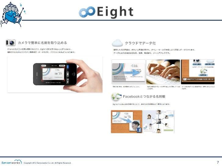 Copyright 2012 Serverworks Co, Ltd. All Rights Reserved.   7
