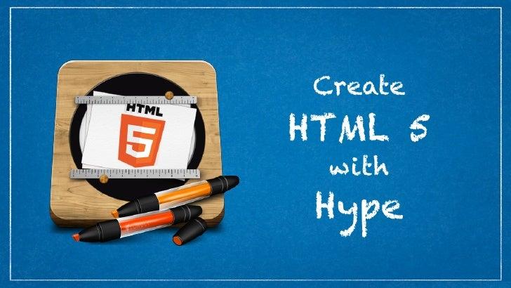 CreateHTML 5  with Hype