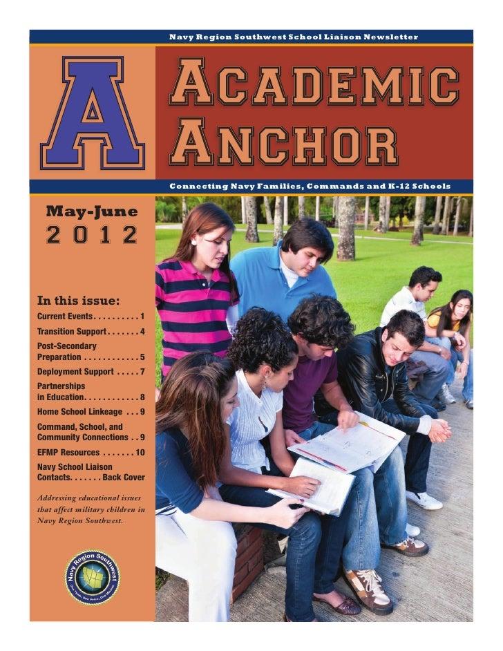 Navy Region Southwest School Liaison Newsletter A May-June                                                  Academic      ...