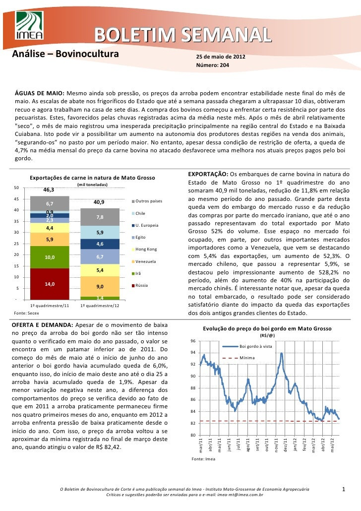 BOLETIM SEMANALAnálise – Bovinocultura                                                                 25 de maio de 2012 ...