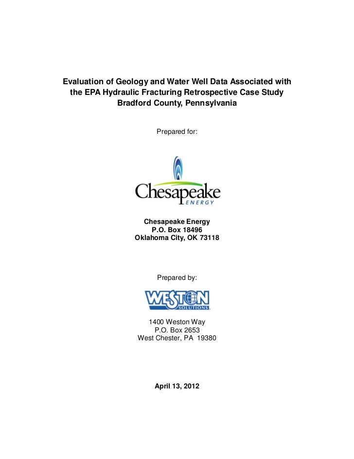 Evaluation of Geology and Water Well Data Associated with the EPA Hydraulic Fracturing Retrospective Case Study           ...