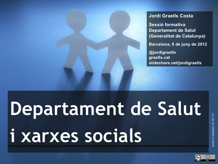 Jordi Graells Costa                  Sessió formativa                  Departament de Salut                  (Generalitat ...