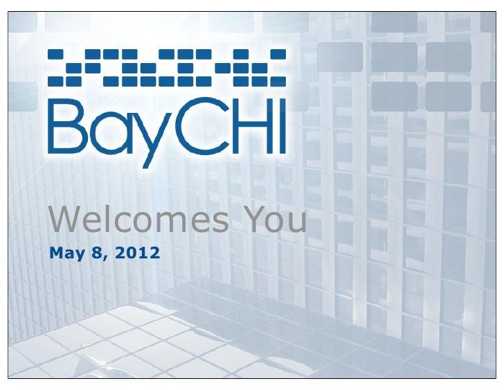 Welcomes YouMay 8, 2012