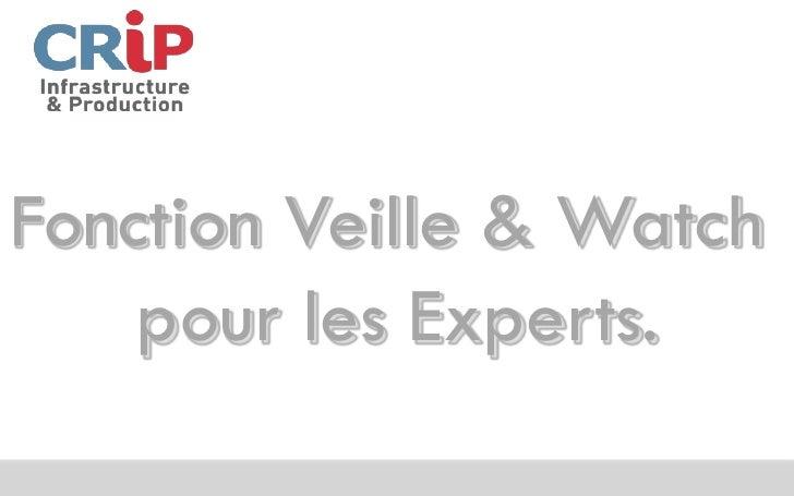 Fonction Veille & Watch    pour les Experts.