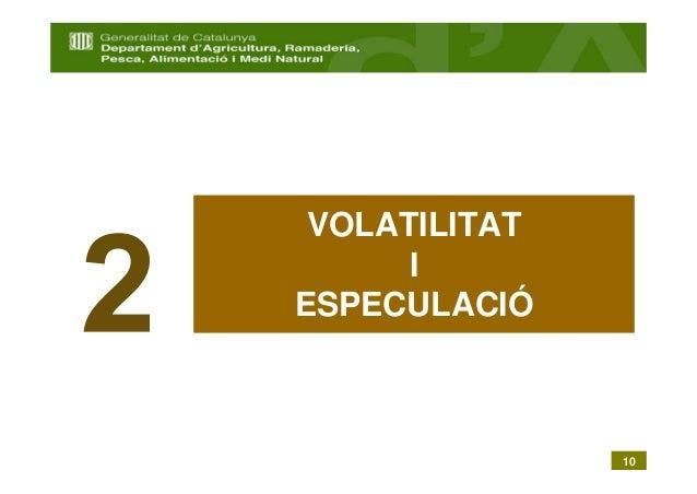 VOLATILITAT      IESPECULACIÓ               10