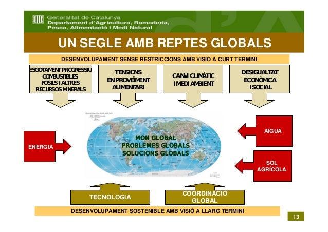 UN SEGLE AMB REPTES GLOBALS          DESENVOLUPAMENT SENSE RESTRICCIONS AMB VISIÓ A CURT TERMINIESGOTAMENT PROGRESSIU     ...